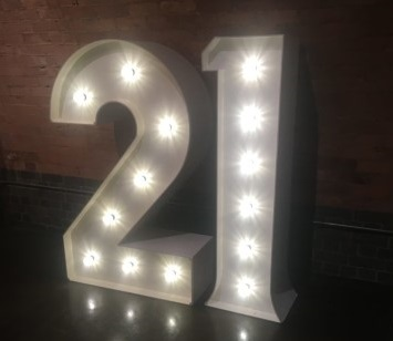 21-LED-Letter-birthday-party-hire