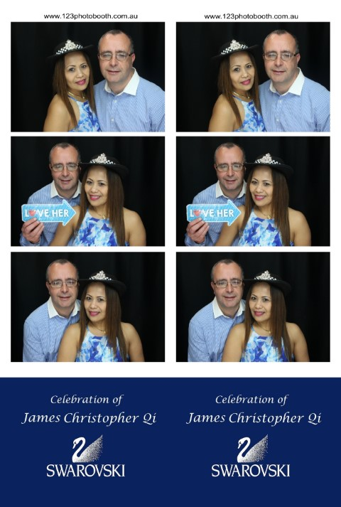 Christening photo booth hire