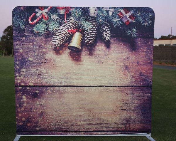 Photo Booth Hire Christmas Bells Backdrop