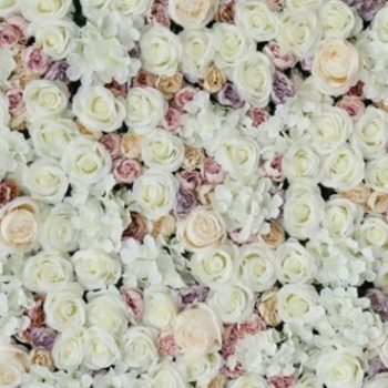 Cream flower wall hire Melbourne