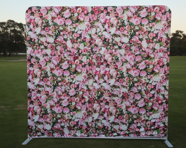 photo booth hire blossom backdrop