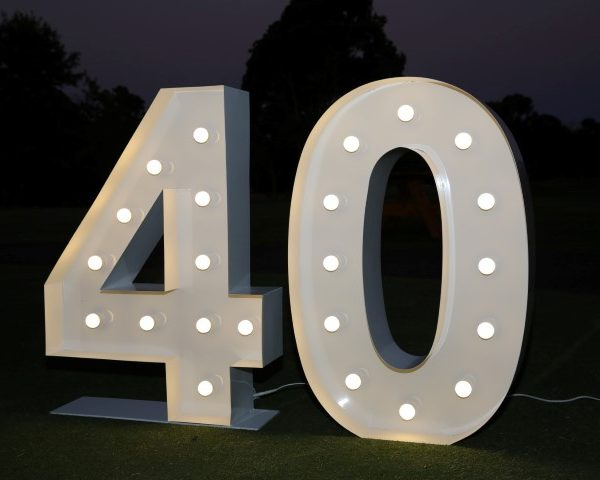Giant light up number 40