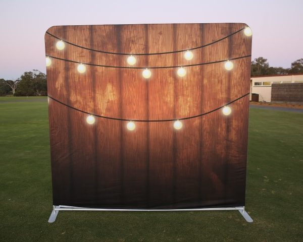 photo booth hire Festive Lights backdrop