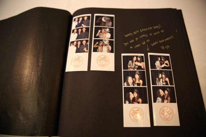 Party photo booth hire guestbook