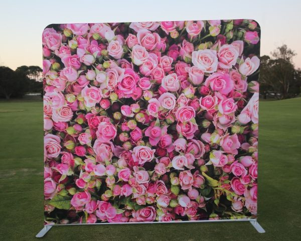 photo booth hire roses backdrop