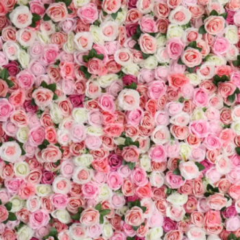 Pink flower wall hire