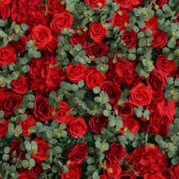Red flower wall hire Melbourne