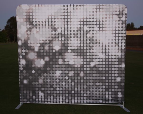 photo booth hire silver backdrop