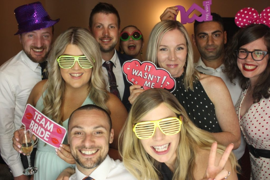 Wedding party photo booth hire