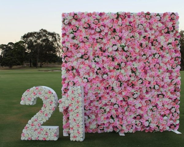 Giant letter with flower wall