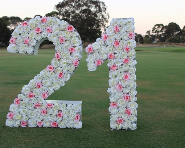 Giant letter with flowers hire Melbourne