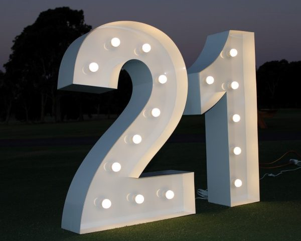 giant light up number 21