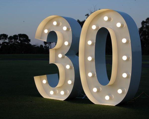giant light up number 30
