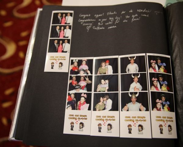 wedding guestbook photo booth hire